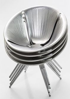 Now you can have style and have as many guests you want. Stackable Aluminum chairs.