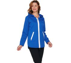 Cute and convertible, this jacket by Louis Dell'Olio allows you to zip up the hood when you need extra coverage up top. Page 1 QVC.com