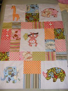 Jungle / Safari Baby Quilt in progress | Flickr - Photo Sharing!