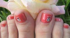 ladybugs #2 pedicure