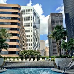Pool side view..at One Park Place! Downtown Houston