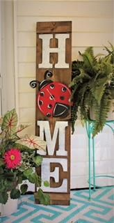 HOME Porch Sign Letters with 1 Attachment - Unfinished Pallet Crafts, Pallet Art, Wooden Crafts, Painted Wood Crafts, Porch Welcome Sign, Home Porch, Porche, 3d Home, Primitive Homes