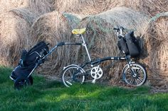 Brompton and Burly  folding bike trailer
