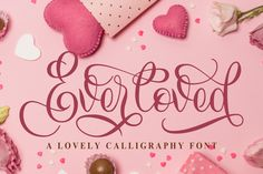 Hello, Introducing Everloved is a lovely calligraphy font. Everloved is funny, it is a calligraphy font created with a love for calligraphy art. Handwritten Fonts, Calligraphy Fonts, All Fonts, Cricut Fonts, Business Illustration, Creative Sketches, Premium Fonts, Business Card Logo, School Design