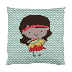 Sweet ill Maori girl pillow