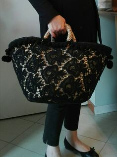 Posted by Brusilla Lace Bag, Ethnic Bag, Diy Tote Bag, Boho Bags, Basket Bag, Summer Bags, Cute Bags, Handmade Bags, Beautiful Bags