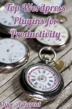 Top WordPress Plugins for Productivity via http://typeaparent.com