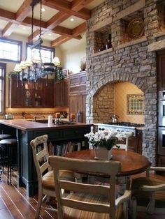 meuble cuisine bois brut, salon moderne avec une belle cuisine
