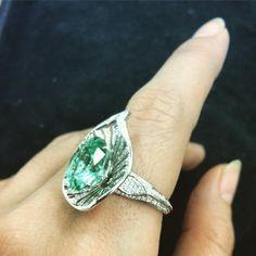 KAT FLORENCE Brazilian Paraiba and diamond ring