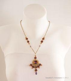 Beading Tutorial Tibetan Sunset Necklace and by SmadarsTreasure