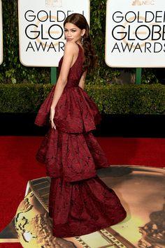 In Marchesa.   - Zendaya  Golden Globe Awards 2016