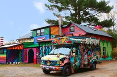 A New York Artist Turned Her 170-Year-Old Farmhouse Into A Rainbow Playground -- Katwise, who makes those incredible sweater coats, lives in the most magical house ever.