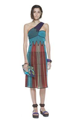 #MMissoni   Mono shoulder crossed dress   Summer 2014 Collection