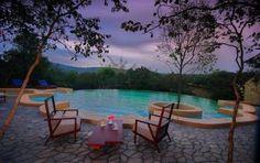 Swimming pool at The Windflower Bandipur, Karnataka, India