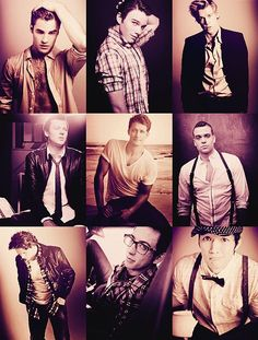 all of the good looking men from Glee