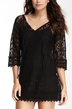 Embroidered Trim Lace Dress