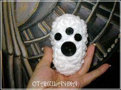 disfraz bebé oso polar - crochet  lana hipoalergénica,botones crochet  ganchillo
