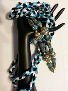 Blue Tropic Beaded  OOAK  Wedding Hand Fasting/ by DivinityBraid