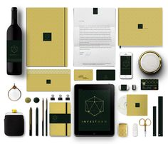 INVESTORO corporate identity / webdesign by Lukas Vanco, via Behance