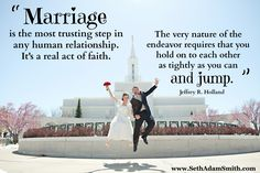 Best quote on marriage ever. Love the Bountiful temple in the back :)