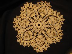Pattern is for Centerpiece, 4 dinner place doilies, 4 bread-n-butter plate doilies, and 4 glass doilies.