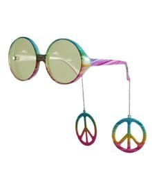 Hippie Glasses w/Dangle Peace Signs