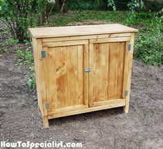How to Build a Farmhouse Kitchen Cabinet | HowToSpecialist - How to Build, Step by Step DIY Plans