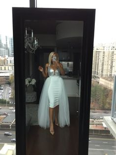 7dfa27f2c Oyemwen Tiered High Low Tulle Maxi Tutu Orchid Skirt White in 2019 ...