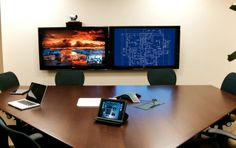 Conference room video wall Video Wall, The Office, Flat Screen, Conference Room, Commercial, Projects, Blood Plasma, Blue Prints, Flatscreen