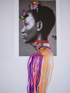 This embroidery infused work by Mexican artist Victoria Villasana is amazing. You may recognize her name because Victoria was a prolific street artist in London Portrait Embroidery, Embroidery Art, Mixed Media Photography, Art Photography, Textiles, Photography Sketchbook, Figurative Kunst, Identity Art, Cultural Identity