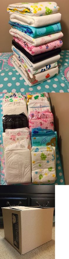 Incontinence Aids: Abdl Adult Baby 10 Diaper Sample Pack Large -> BUY IT NOW ONLY: $40 on eBay! Newborn Diapers, Cloth Diapers, Diaper Crafts, Disposable Nappies, Pvc Hose, Diaper Changing Station, How Big Is Baby, Baby Accessories, Stuff To Buy