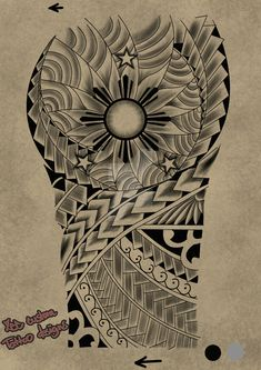 Tattoo request design Maori 3 stars and the sun by maherosan123.deviantart.com on @DeviantArt