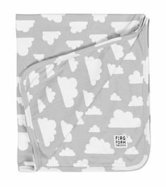 Farg & Form Jersey cotton Clouds blanket - Grey £21.00 - Kids - Blankets ANDSHINE