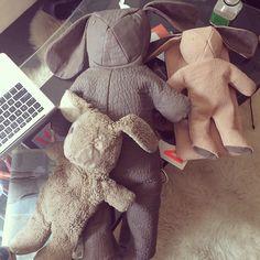 bunny family. MC x @dominic_louis Louis Backpack, Bunny Bags, Backpacks, Fabric, Tejido, Tela, Backpack, Cloths, Fabrics