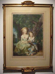 Vigee Le Brun Pinx Elizabeth Louis Rococo French Original Wood Frame Portrait Print