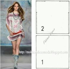 Un altro abito a foulard  #sewing #pattern #cartamodelli