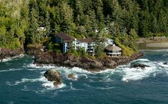 Wickaninnihsh Inn in Tofino, British Colombia is a 75-room resort on Vancouver Island built in the 1950s with a precise location very much in mind—it's a prime spot for watching the area's dramatic, wave-crashing winter storms.