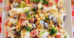 Sałatka meksykańskaBłyskawiczna i pyszna sałatka, która idealnie sprawdzi się na imprezowym stole.Nie wymaga specjalnie skomplikowanych składników więc przygotować ją można w ostatniej chwili.Bardzo lubię kiedy tego typu sałatki są w ... Cooking Time, Pasta Salad, Salads, Food And Drink, Ethnic Recipes, Food Ideas, Gastronomia, Diet, Chef Recipes