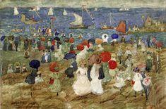 Nantasket Beach (also known as Handkerchief Point), 1896 - Maurice Prendergast