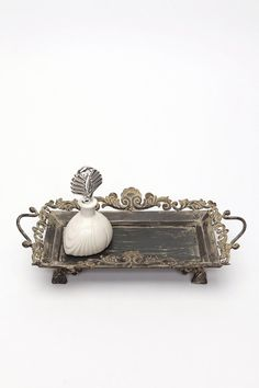 Filigree Scroll Vanity Tray | Urban Outfitters | Looking for something like this for my dresser, but I want one more authentic