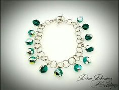 Emerald Fire Polish Bracelet, comes in any size. $10. #Bracelet #FashionJewelry #Emerald #WearIt #DearDreamz #Boutique