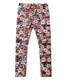 Love this White & Red Floral Leggings - Infant, Toddler & Girls on #zulily! #zulilyfinds
