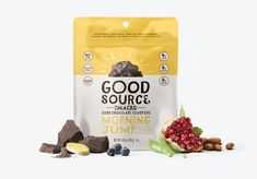 The Right Ingredients at the Right Time of Day - World Brand Design Food Packaging Design, Packaging Design Inspiration, Branding Design, Kids Packaging, Design Ideas, Dried Apples, Dried Cherries, Chocolate Clusters, Snack Brands