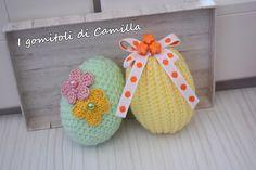 Easter Crochet, Camilla, Happy Easter, Easter Eggs, Origami, Crochet Patterns, Crochet Hats, Knitting, Creative
