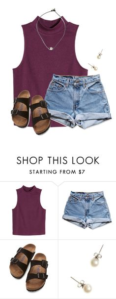 """""""#arm.day"""" by flroasburn ❤ liked on Polyvore featuring H&M, Levi's, Birkenstock and J.Crew"""