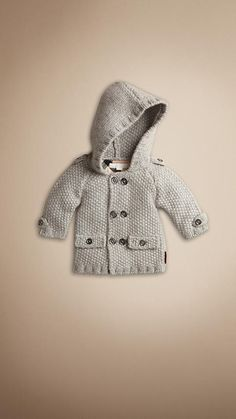 Baby Burberry knit coat