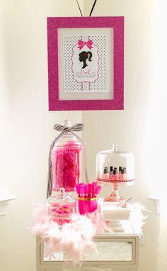 A Glitzy & Glam Barbie Spa Birthday Party: Set Ups