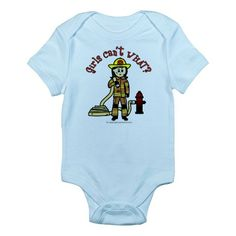 baby firefighter clothing   Can't Gifts > Can't Baby Clothing > Firefighter Girl Infant Bodysuit