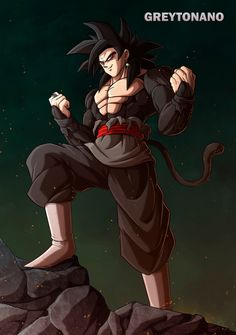 Goku Black SSJ4 V3 by greytonano on @DeviantArt