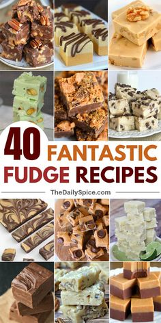 40 Fantastic Fudge Recipes That Will Blow Your Mind - The Daily Spice - - Satisfy your sweet tooth with these tasty and easy fudge recipes! Peanut butter, condensed milk, chocolate, classic fudge and more, we've got it all! Chocolate Chip Cookies, Chocolate Peanut Butter Fudge, Oreo Fudge, Salted Caramel Fudge, Chocolate Fudge Recipes, Peanut Butter Marshmallow Fudge, Maple Fudge, Desserts Caramel, Caramel Treats